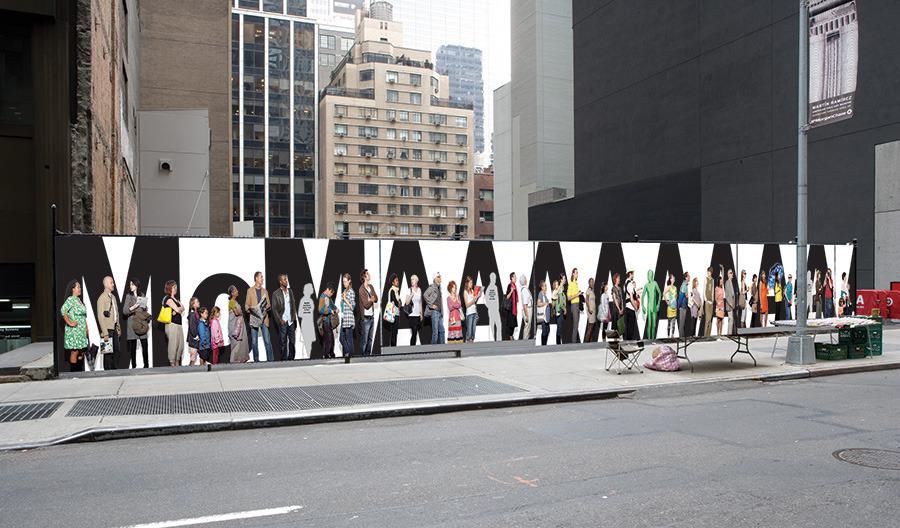 MoMA Fence Banner - Brigitta Bungard